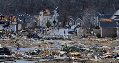 13 tornadoes touch down in US South leaving at least five dead
