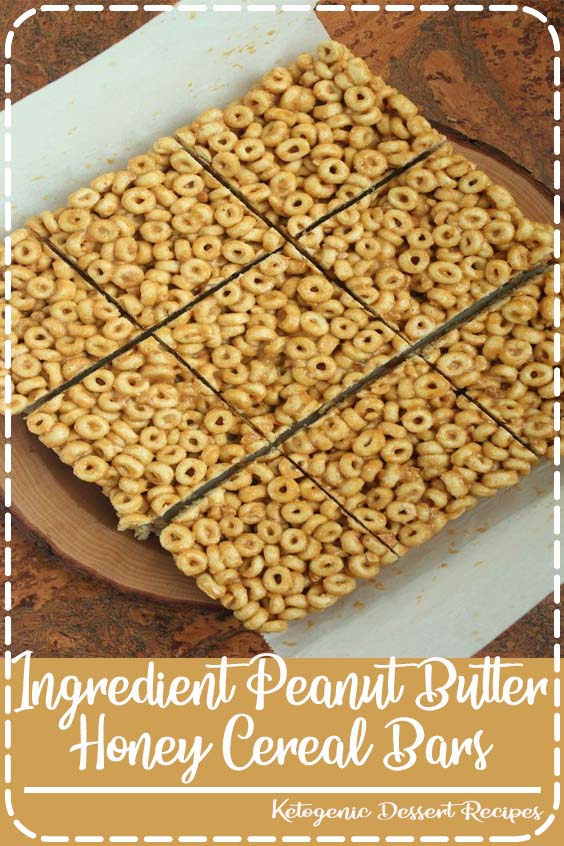 the ingredients for which you most likely already have in your kitchen 3 Ingredient Peanut Butter & Honey Cereal Bars