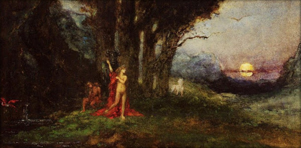 Pasiphae and the Bull by Gustave Moreau, Classical mythology, Greek mythology, Roman mythology, mythological Art Paintings, Myths and Legends