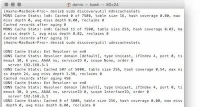 إزالة ذاكرة التخزين المؤقت DNS