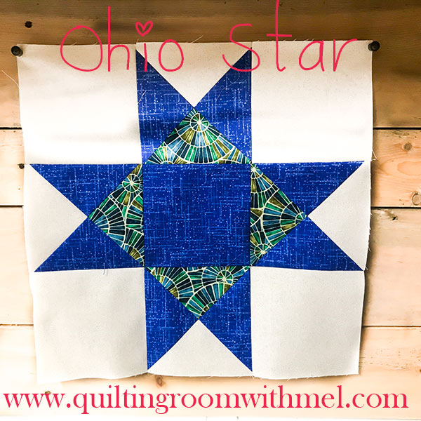 Learn how to make the very pretty Ohio Star quilt block
