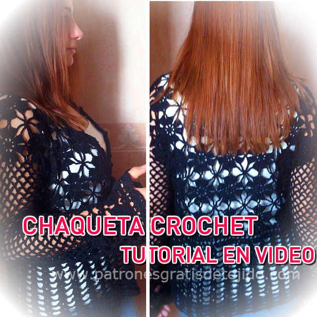 Chaqueta Crochet para Talles Reales / Video Tutorial | Crochet y Dos ...