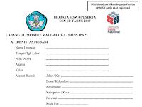 Formulir OSN Flus Surat Tugas Pembimbing