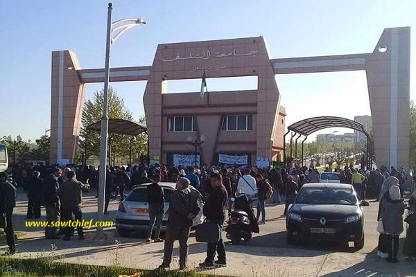 حراك الطلبة مستمر بشوارع الشلف