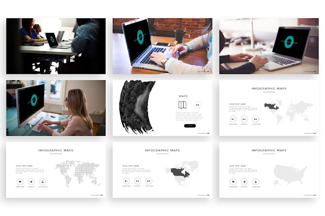 SOLID free PowerPoint Template Slide 64-72