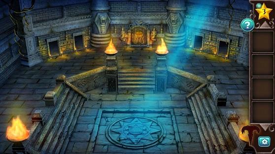 большой зал в котором расположены входы в четыре комнаты