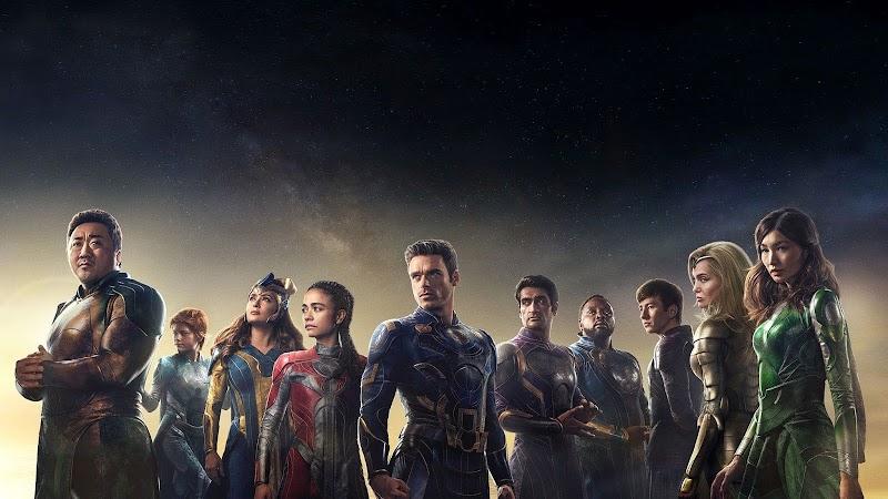 Eternals (2021) - Poster : クロエ・ジャオ監督のディズニー・マーベルのヒーロー映画の超大作「エターナルズ」が、不死身の超人たち10名のキャラ・ポスターをリリース ! !