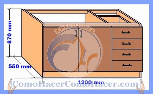 Planos de cocinas proyecto minue cocina plano antes with for Planos de muebles de cocina
