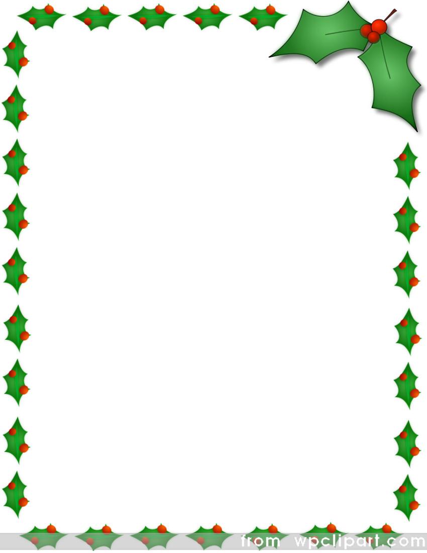 christmas clipart holly border - photo #47