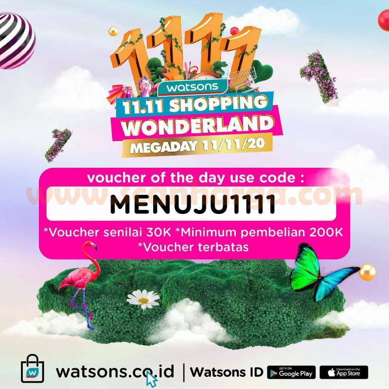 Watsons 11.11 Shopping Wonderland Megaday*