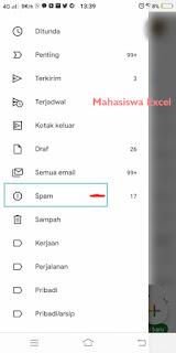 cara cek Spam Mahasiswa Excel