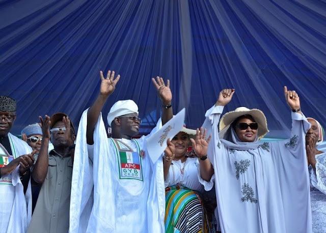 Aisha Buhari Under Fire For Supporting Yahaya Bello's Second Term Bid (Photos)