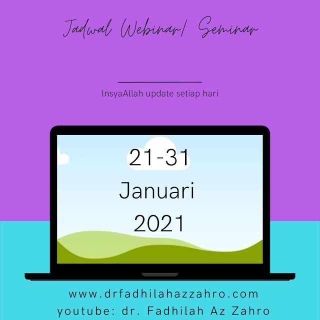 Jadwal Webinar/Seminar Dokter 21-31 Januari 2021