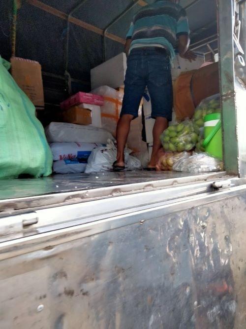 Trùn quế giống lên xe tải