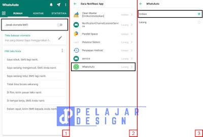 Cara Menggunakan WhatsAuto Di Smartphone (Balas Pesan WA Otomatis)