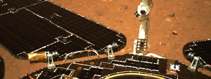 china libera primeiras imagens e vídeo de Zhurong em Marte