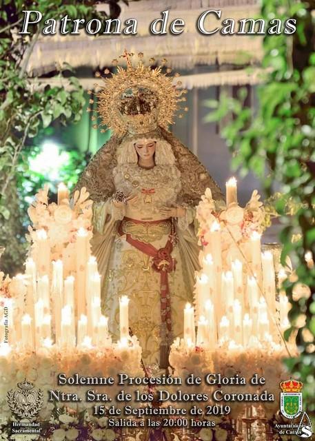 La Virgen de los Dolores saldrá bajo palio en sus Fiestas Patronales de Cama
