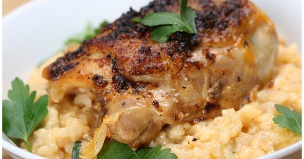 Lemon Pepper Chicken & Creamy Rice #Recipe