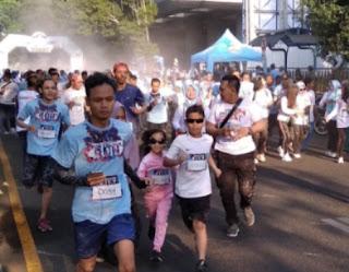 Peringati HUT Bhayangkara ke 73, Polres Jember Satukan Elemen Masyarakat dengan Gelar Fun Colour Run 5 KM