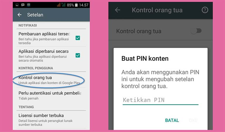 Bagaimana Cara Mengatur Kontrol Orang Tua Pada Aplikasi Google Play Store?