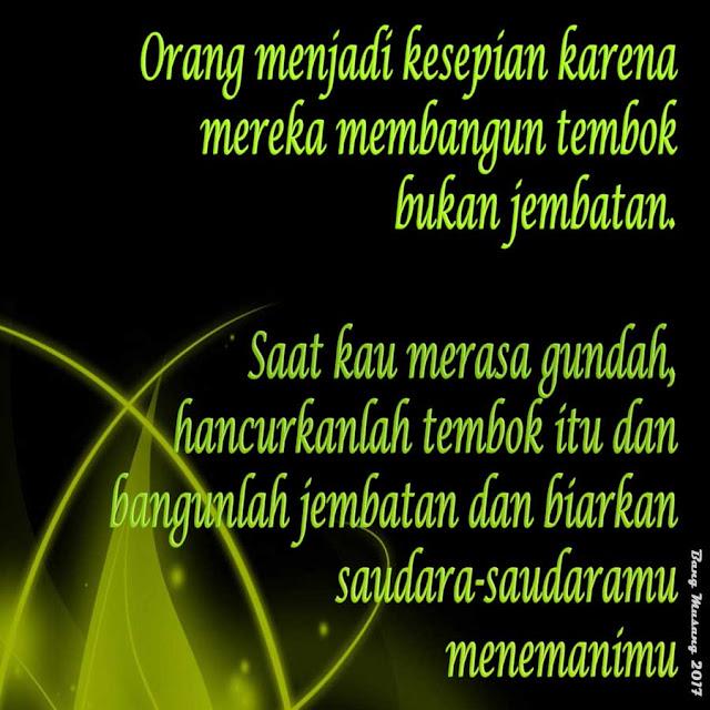 kata mutiara islam kesepian