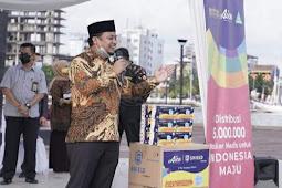 Andi Sudirman Sulaiman Puji Distribusi 5 Juta Masker GP Ansor dan Aice di Sulsel
