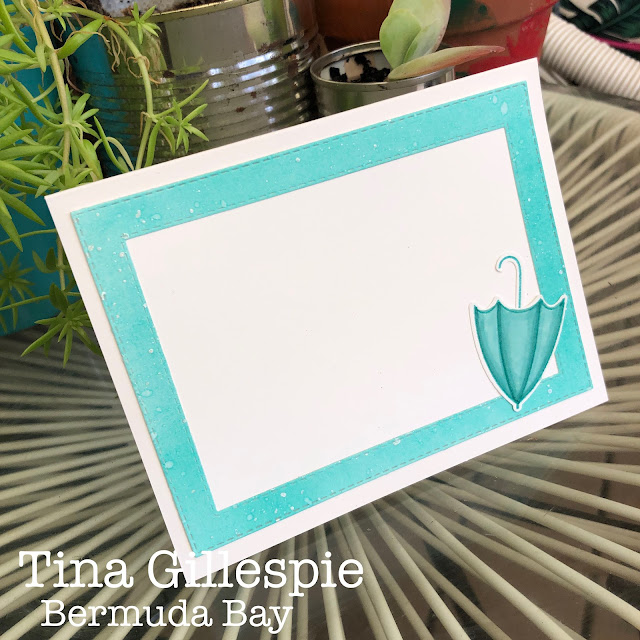 scissorspapercard, Stampin' Up!, Colour Creations, Under My Umbrella, Stitched Rectangles Dies, Subtle 3DEF, Stampin' Blends