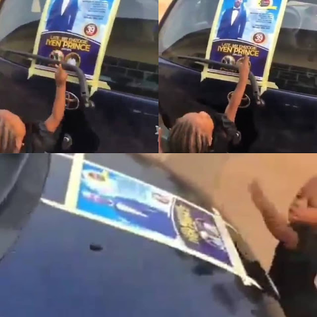 ''Daddy! Daddy!!'' Little girl calls on her late dad after seeing his obituary poster (Watch video)