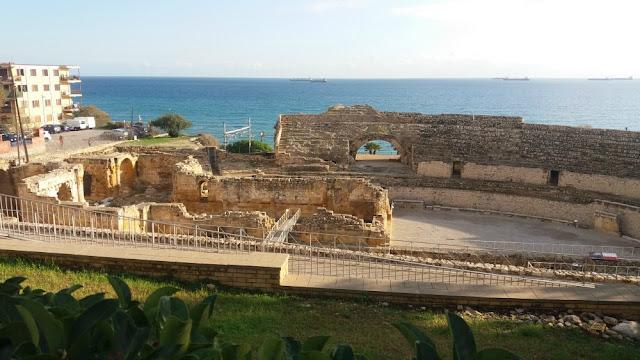 ruínas do anfiteatro romano em Tarragona