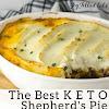 SHEPHERD'S PIE RECIPE WITH CAULIFLOWER TOPPING