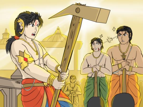 Balarama Bhima and Duryodhana