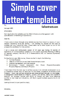 simple cover letter template free