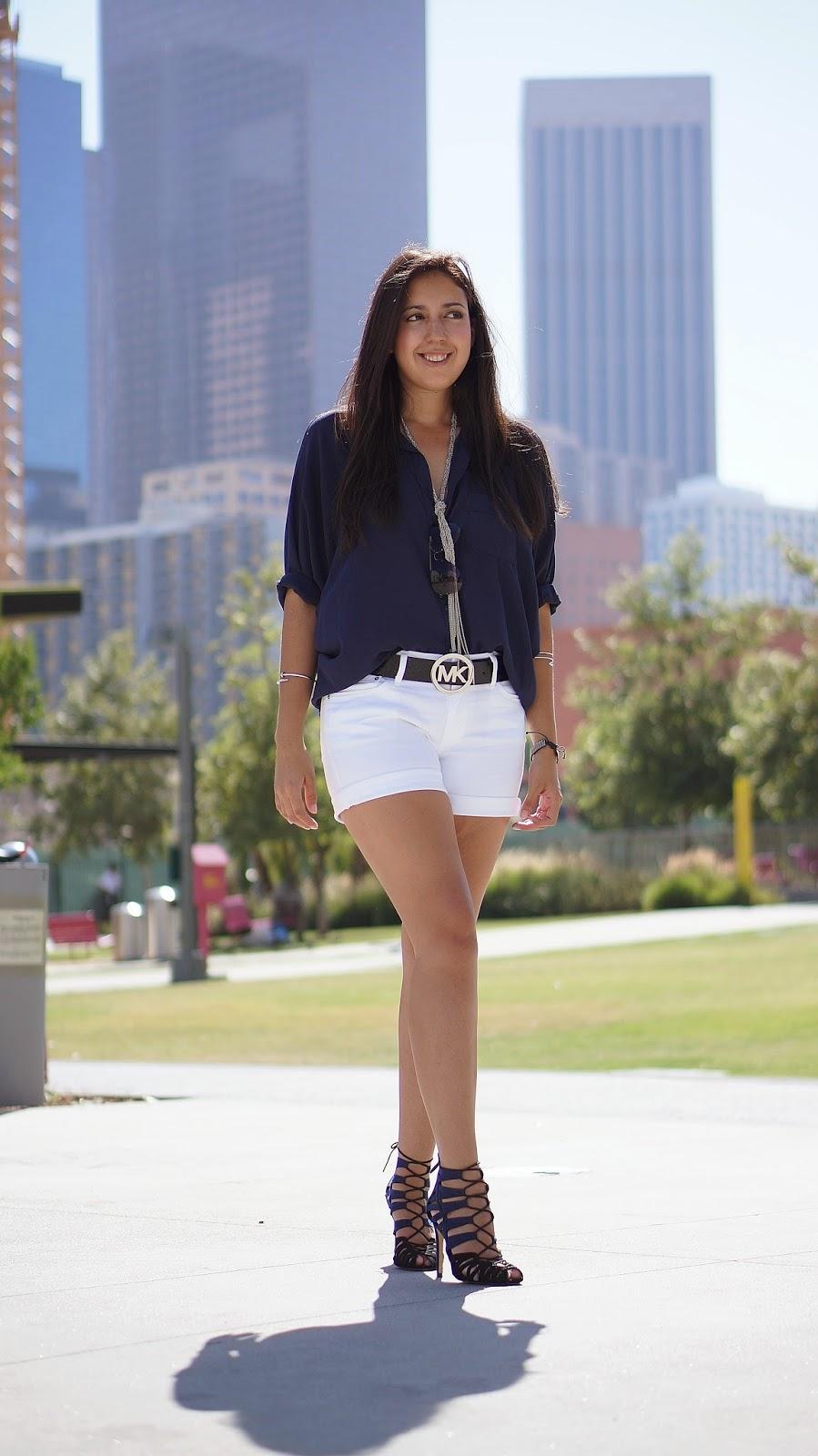 Levi's Roll Cuff White Shorts, Summer Fashion, Fashion Blogger, Zara Heels, Casual Look