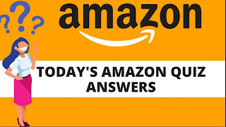 Amazon Quiz Today 29 June 2020 Answers Revealed, Rs. 50,000 at Stake!