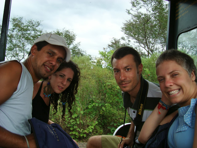 Nuria, Telemaco, Marcel, and I at las Cataratas del Iguazú, Argentina