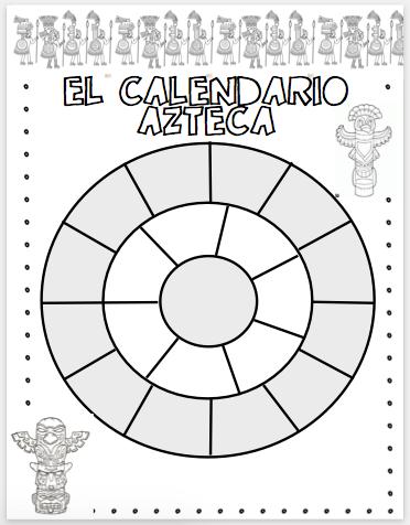 Calendario It.Spanish With Senora Botero Moriarty El Calendario Azteca