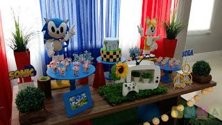 Decoração de festa infantil Sonic Porto Alegre