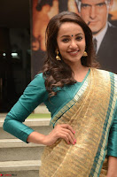 Tejaswi Madivada looks super cute in Saree at V care fund raising event COLORS ~  Exclusive 085.JPG