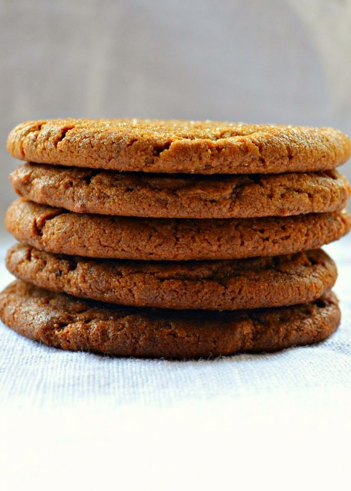 Stacked Molasses Cookies.