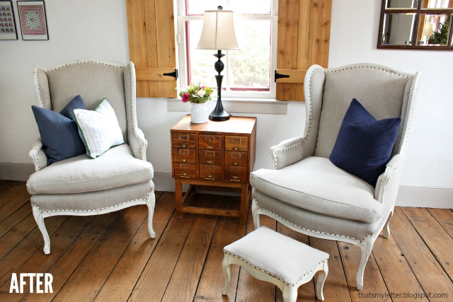 diy wing chair upholstery