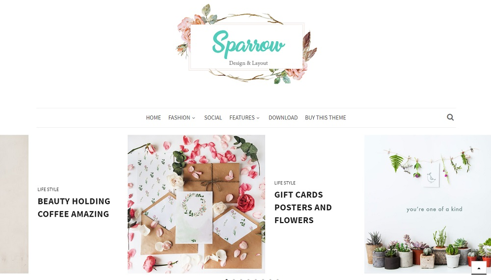 Sparrow v1.0 - Responsive Personal Blogger Template