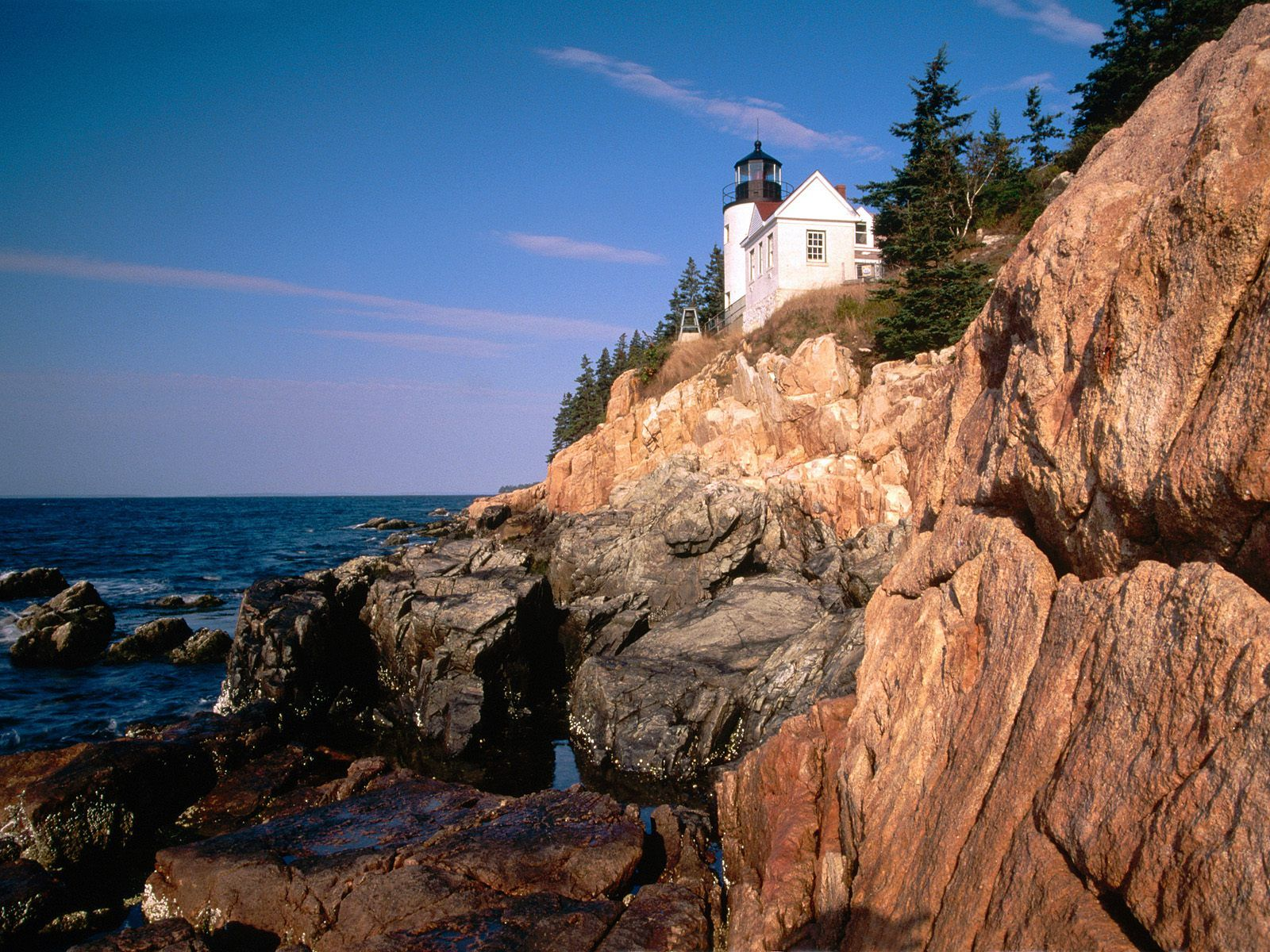 Acadia National Park Wallpapers, Maine, Bass Harbor Head Lighthouse Wallpapers