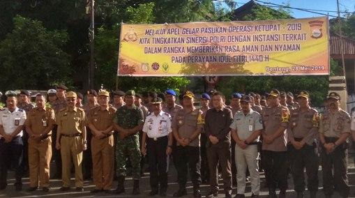 Kapolres Kep. Selayar, Pimpin Gelar Pasukan Operasi Ketupat 2019
