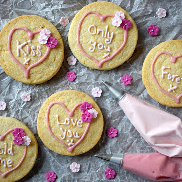 Perfect for Valentine's Day, Loveheart Styled Shortbread Biscuits