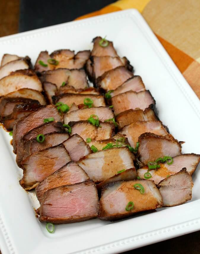 Chinese barbecue pork with sauce