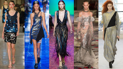 From left: Kenzo, Thierry Mugler, Elie Saab, Alexander McQueen and Louis Vuitton: Photos: Imaxtree