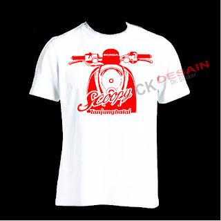 Sablon Kaos - T-shirt Motif Scoopy | Tanjungbalai