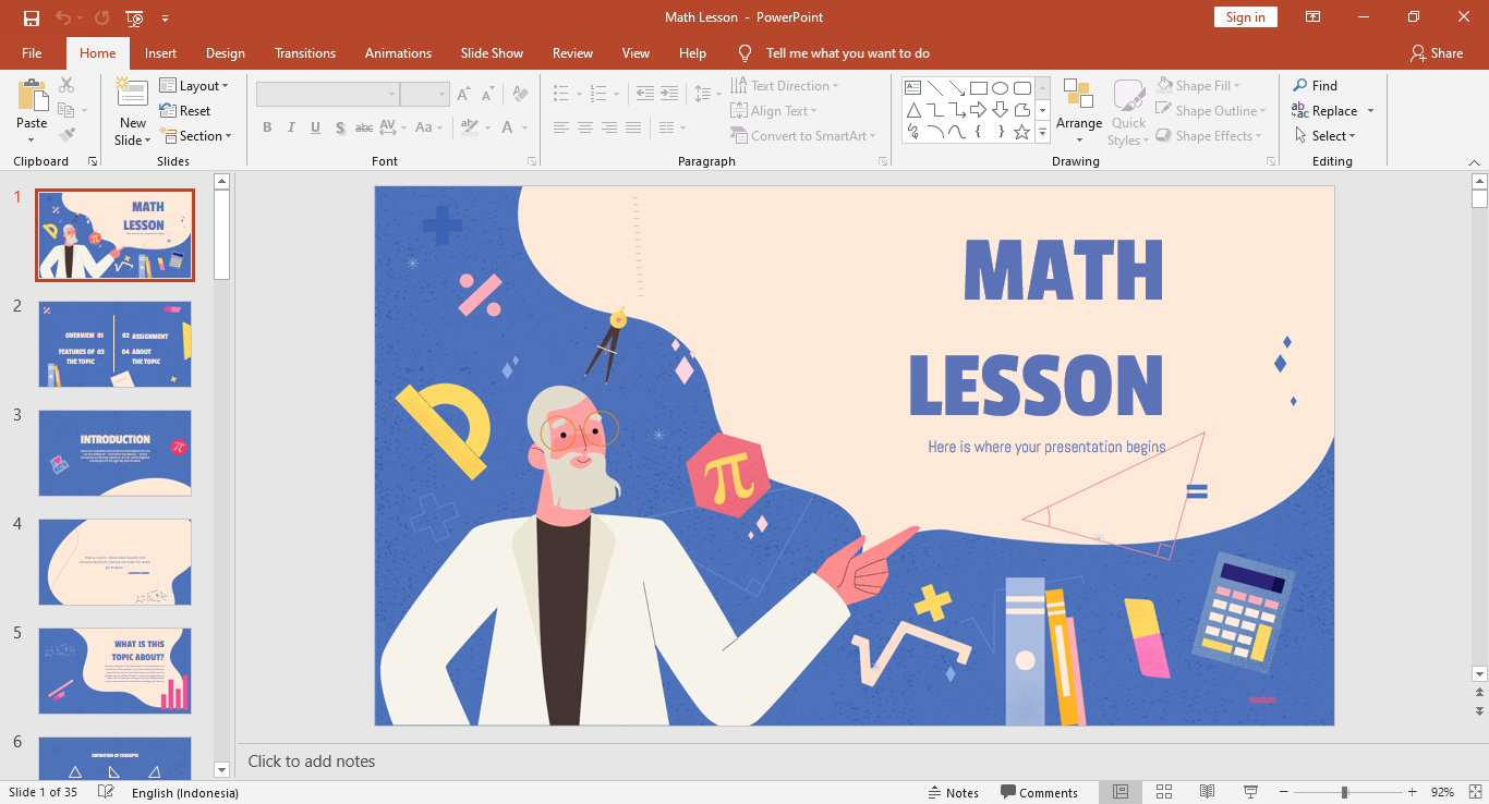 Download Template Powerpoint Math