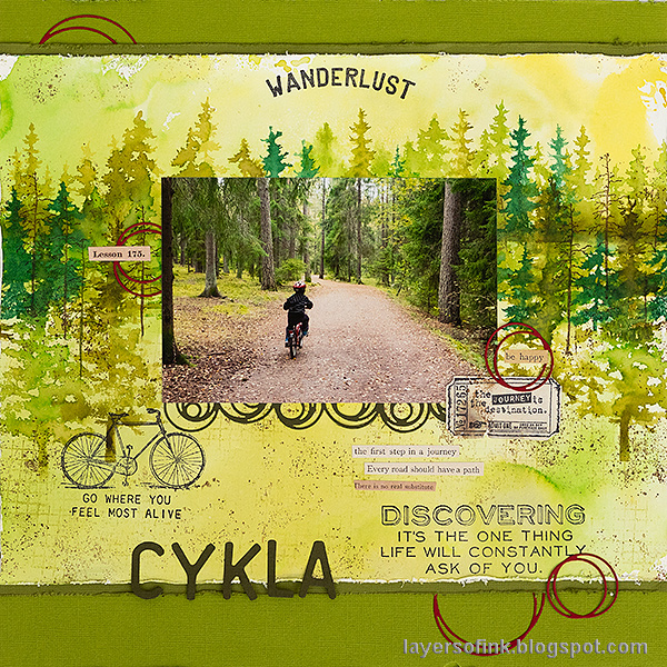 Layers of ink - Forest Layout by Anna-Karin Evaldsson.