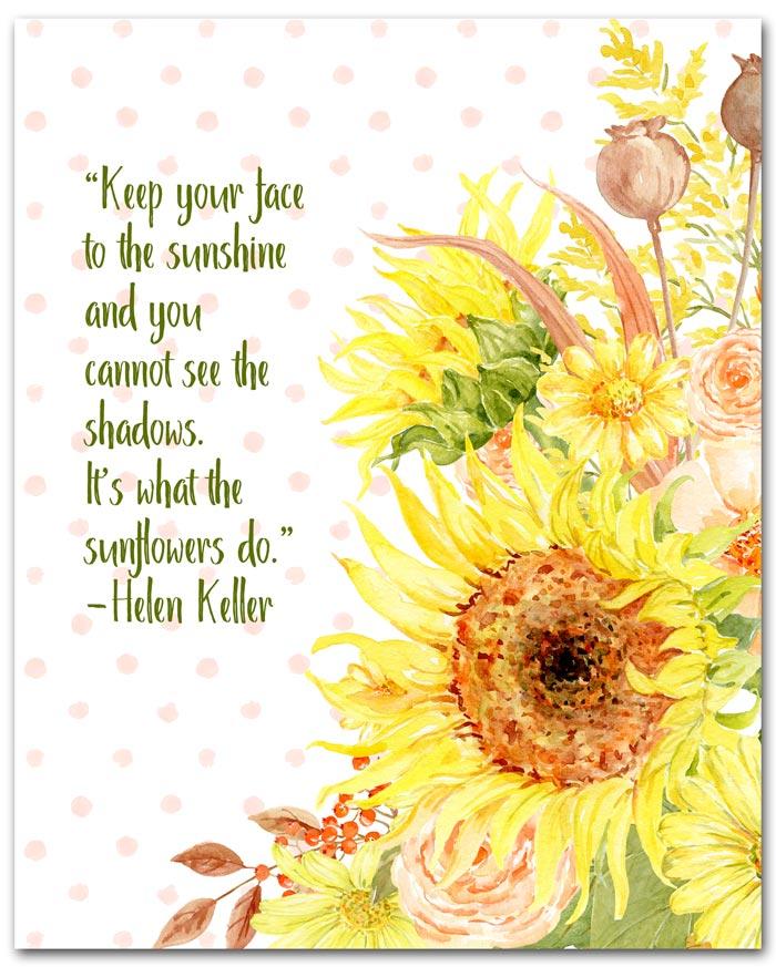 Helen Keller Sunflower Quote